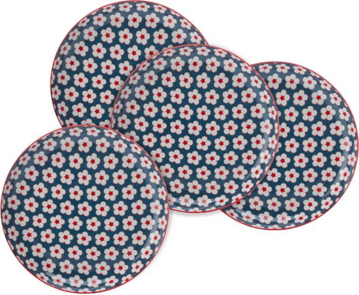 Maxwell & Williams Cotton Bud Mělké talíře 23 cm modré 4 ks
