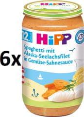 HiPP Špagety s morskou rybou a zeleninou, 6 x 250g