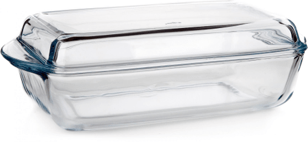 Pasabahce BORCAM steklen pravokotni pekač s pokrovom 2,8 l