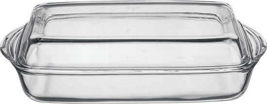 Pasabahce BORCAM Pekáč skleněný hranatý s víkem 4,12 l