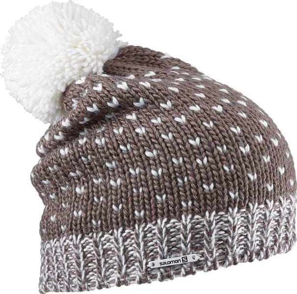 Salomon Pearl Beanie Chestnut Brown/White