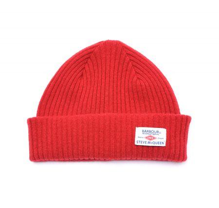 Barbour červená pánská čepice