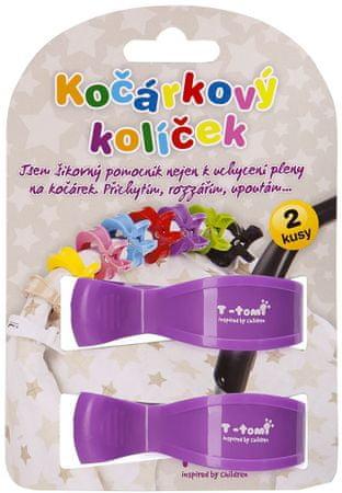 T-tomi ščipalka za otroški voziček, vijolična