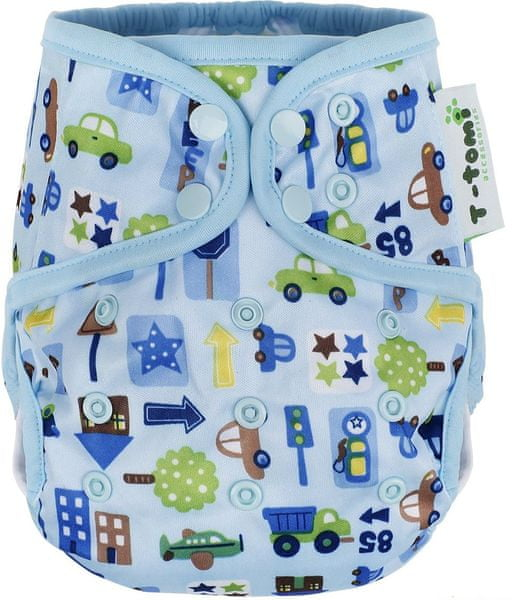 T-tomi Svrchní kalhotky, Modrá auta + dárek