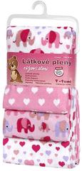 T-tomi Pieluszki flanelowe (4 szt.), Różowe słonie