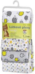 T-tomi Pieluszki flanelowe (4 szt.), Szare jeże