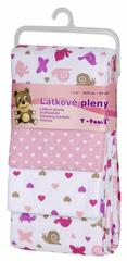 T-tomi Pieluszki flanelowe (4 szt.), Różowe ślimaki