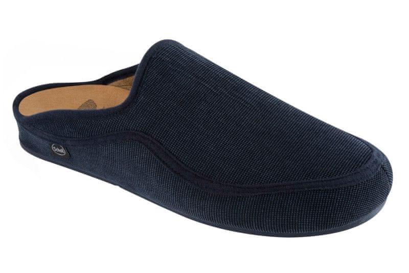Scholl pánská domácí obuv Brandy 44 tmavě modrá