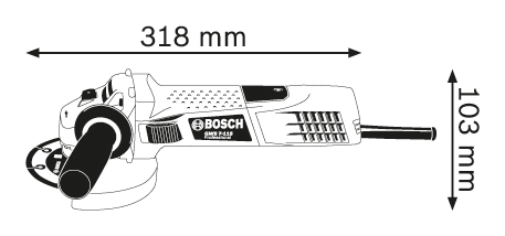 BOSCH Professional kotni brusilnik GWS 7-115 (0601388106)