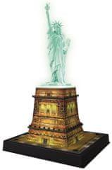 Ravensburger Socha Svobody 3D (Noční edice) 108 dílků