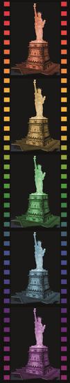 Ravensburger 3D Statua Wolności (Nocna edycja) 108 elementów