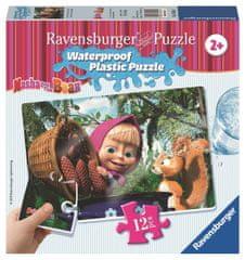 Ravensburger sestavljanka Maša in Medved I., 12 delov