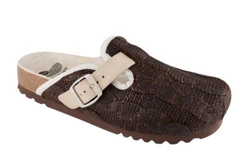 Scholl dámská domácí obuv Nevea 38 tmavě hnědá  50dff363e2