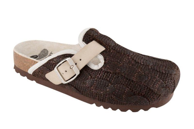Scholl dámská domácí obuv Nevea 40 tmavě hnědá