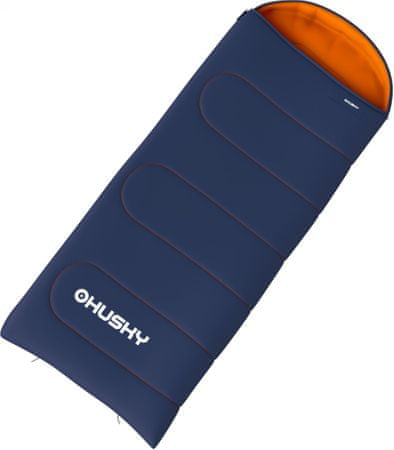 Husky Merel 0°C Hálózsák-bal, Kék/Narancs, 195 cm