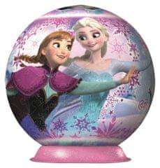 Ravensburger sestavljanka Disney Frozen Ledeno Kraljestvo 3D Puzzleball, 180 delna