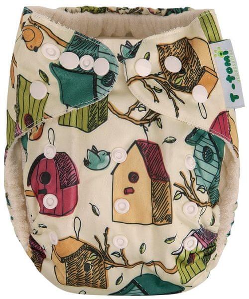 T-tomi Bambusová kalhotková plena AlO, Ptačí budky NEW + dárek