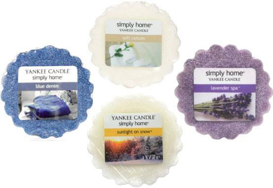 Yankee Candle Sada vonných vosků Relax 4 ks