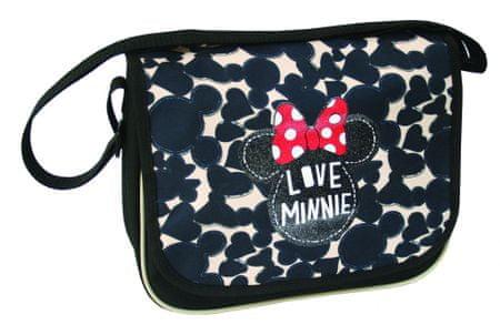 Minnie Mouse torba enoramna Minnie, črna/bež