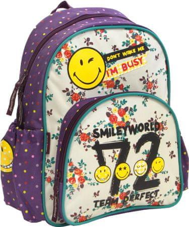 Smiley nahrbtnik Kids Smiley, bel/vijola