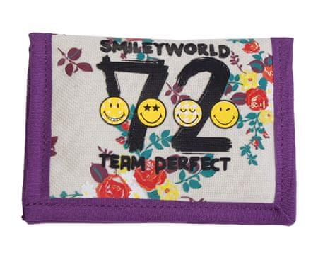 Smiley denarnica Smiley, bela / viola