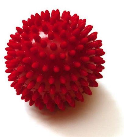 Sissel masažna žogica Spiky Ball, 9 cm, rdeča