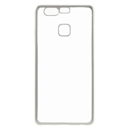 Silikonski ovitek z okvirjem za Huawei P9 - svetlo siv