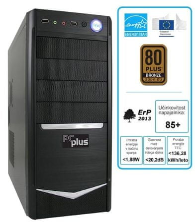 PCplus namizni računalnik Family G3260 Pentium/4/120SSD/Win10 + 1-letna licenca Office 365 Personal