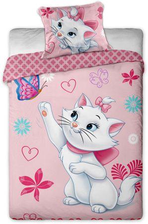 Jerry Fabrics Povlečení Kočička Marie Gold bavlna 140x200 70x90