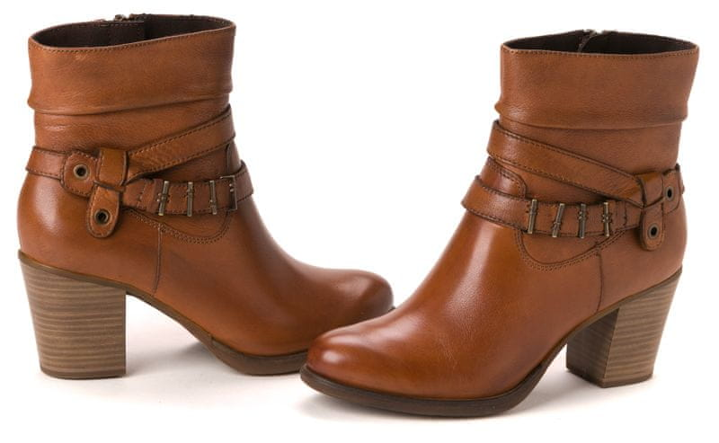 Tamaris dámská kotníčková obuv 38 hnědá