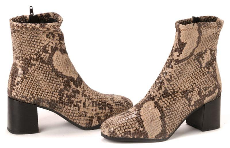 Tamaris dámská kotníčková obuv 39 béžová