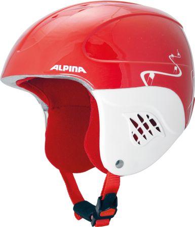 Alpina otroška smučarska čelada Carat Kids, rdeča, 54 - 58
