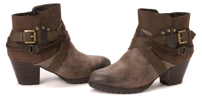 s.Oliver dámská kotníčková obuv 37 tmavě hnědá