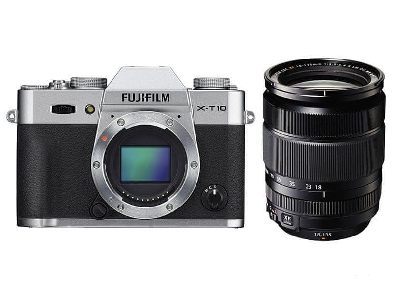 FujiFilm X-T10 + 18-135 Silver + 2800 Kč od Fuji zpět