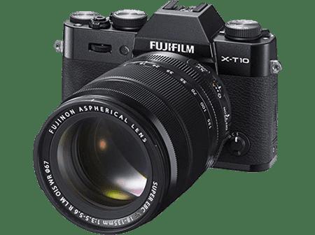 FujiFilm X-T10 + 18-135 Fényképezőgép, Fekete