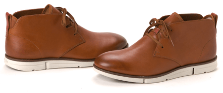 Clark's pánská kotníčková obuv Trigen Mid 42 hnědá