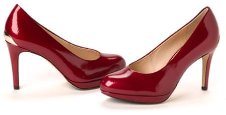 Högl ženski salonarji 37 bordo rdeča
