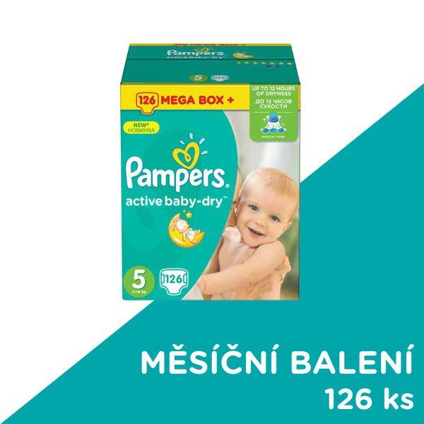 Pampers Pleny Active Baby velikost 5 126 kusů