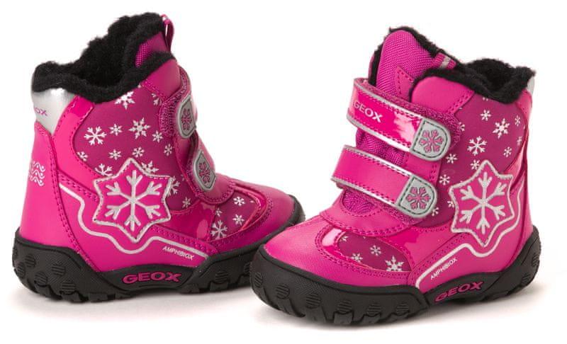 Geox dívčí kotníčková obuv 22 růžová