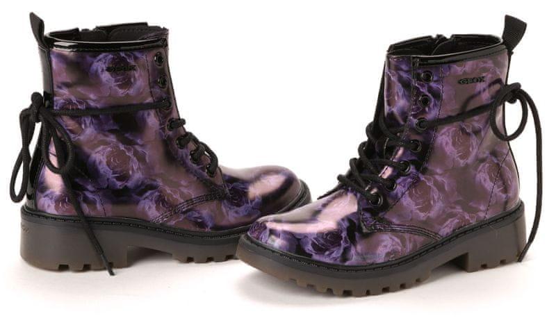 Geox dívčí kotníčková obuv 28 fialová