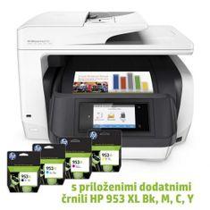 HP AiO večfunkcijska naprava OfficeJet Pro 8720 + črnilo