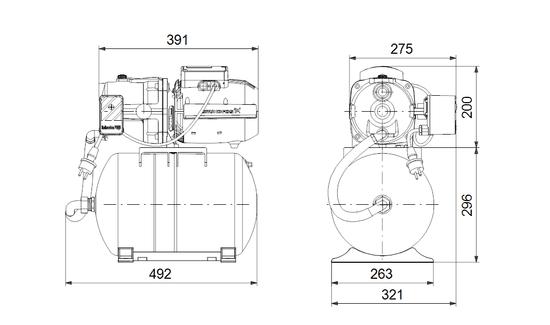 Grundfos kućna hidroforna crpka JPA 4-47 PT-H (98946108)