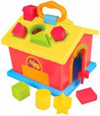 Teddies BABY Multifunkčná vkladačka domček