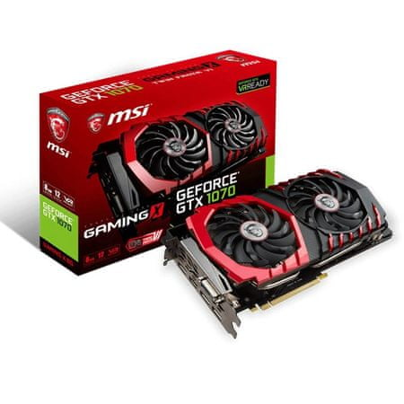 MSI grafična kartica Gaming X GeForce GTX 1070 OC 8GB GDDR5