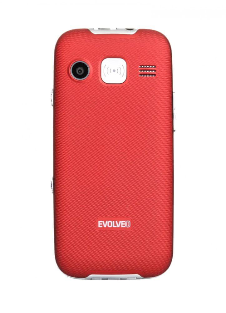Evolveo EasyPhone XD, červený, nabíjecí stojánek - rozbaleno