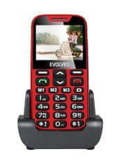 Evolveo EasyPhone XD, červená, nabíjecí stojánek