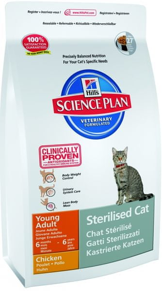Hill's Feline Young Adult Sterilized Cat Chicken 8kg