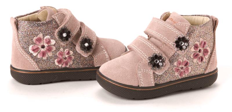 Primigi dívčí kotníčková obuv s výšivkou Biffy 23 růžová