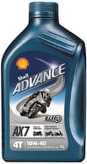 Shell olje Advance 4T AX7 10W40, 1 l