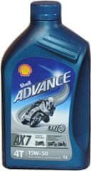 Shell ulje Advance 4T AX7 15W50, 1 l